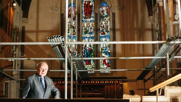 St Mary's Church interior work has begun, pictured is Ray Bennett.