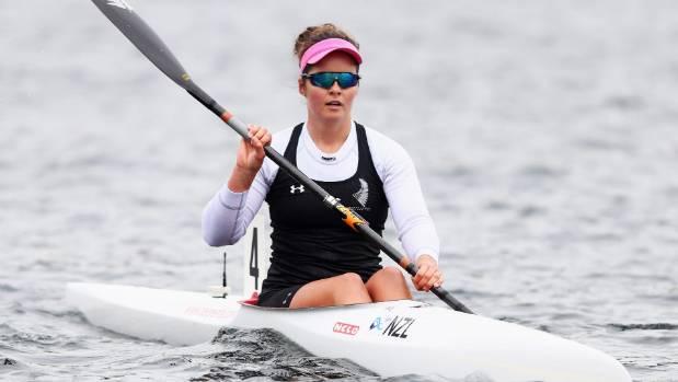 Aimee Fisher won the women's K1 200 title at Lake Karapiro.
