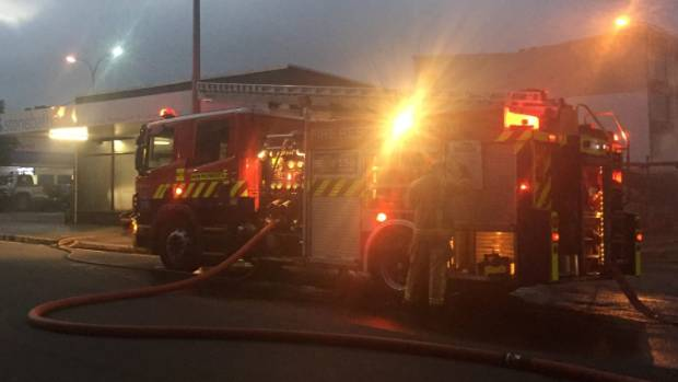Police are investigating two suspicious fires in New Plymouth, including one at the Stonebaths shop on Ariki St.
