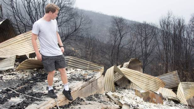 Fin Claude (17) has lost the only home he has ever lived in during the Port Hills fires.