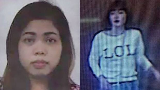The Kim Jong Nam assassination suspects: Inodnesian woman Siti Aisyah (left) and a woman believed to be Vietnamese ...