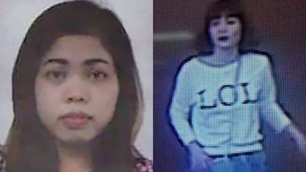 The Kim Jong Nam assassination suspects: Indonesian woman Siti Aisyah, left, and woman a believed to be Vietnamese, Doan ...