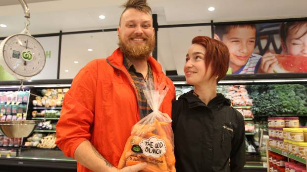 Alex Fulton, left, and Franziska Poschi are in favour of purchasing cheaper, odd shaped veges.