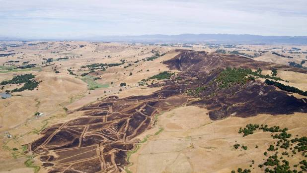 Hawke's Bay aerial photographer Peter Scott captured the extent of the wildfire's damage.