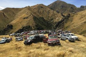 Around 170 people attended the field day at Simon and Lynda Harvey's property Glen Orkney, Awatere Valley.