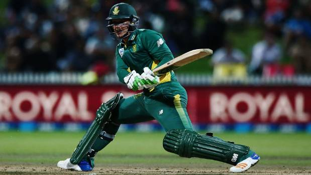 Quinton de Kock played a major role for South Africa against New Zealand at Seddon Park in Hamilton.
