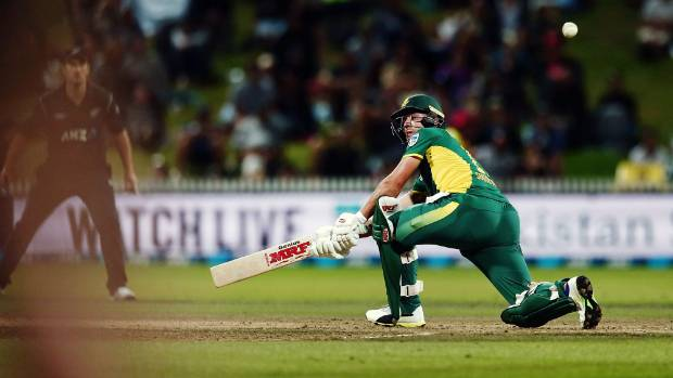 AB de Villiers guided South Africa home over New Zealand at Seddon Park.