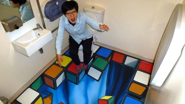 Go to the loo: the illusions guarantee the most fun you've ever had while answering the call of nature.