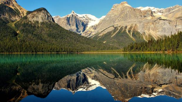 """We took a walk around Emerald Lake in Yoho National Park in the Canadian Rocky Mountains. I happened to stop and saw ..."