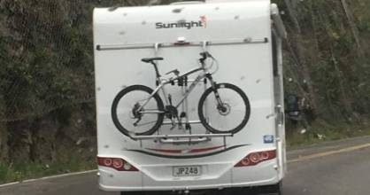 A motorist reported the driver of this campervan to police.