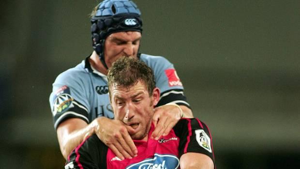 Chris Jack and Dan Vickerman locked in combat during a 2006 clash between the Crusaders and Waratahs.