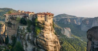 "Literally translated as ""suspended in air"", the stone spires of Meteora were formed 60 million years ago."