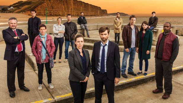 The cast of Broadchurch season three.