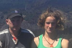 Tom Magill and Stella Bauer lost 150ha of pasture and 6km of fences to the Port Hills fires.