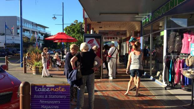 Tourists explore the streets of Picton after the Emerald Princess unexpectedly docked on Monday afternoon.