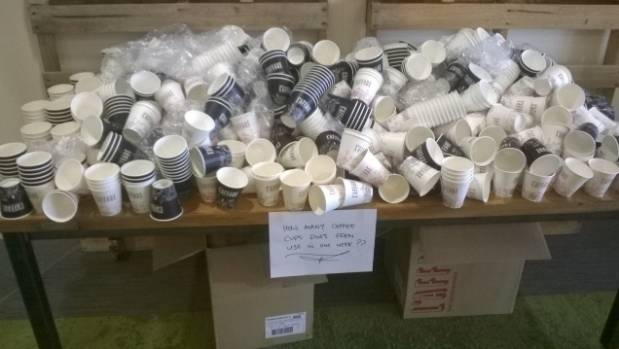 Otago Polytechnic was concerned about how many takeaway coffee cups its Eden cafe was using each week, it chose to stop ...