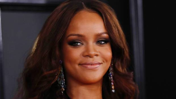 Rihanna teased fans with a peek at her upcoming beauty range.