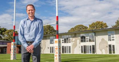 Hamish Riach Chief Executive Officer for the Crusaders rugby team at Christchurch's Rugby Park.