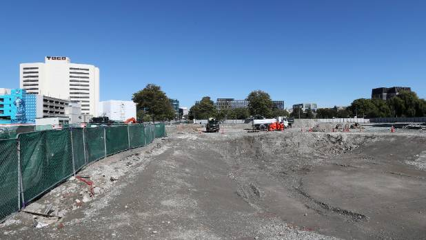 Otakaro began earthworks at the Convention centre site in October 2016.