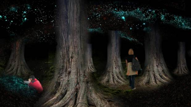 An underground forest – one of the concepts for an Eden Project in Christchurch.