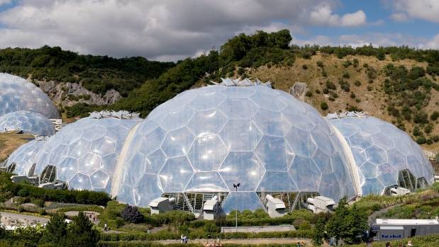 Biomes housing plant environments from around the world are a feature of the UK Eden Project in Cornwall.