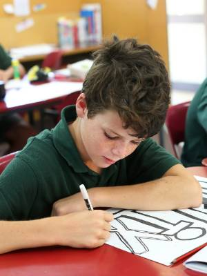 Year 7 students at Richmond View School, from left, Felix Bell and Jayden Choi.