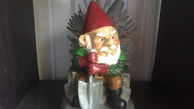 This gnome may find his way home after being stolen and sold, likely for meth.