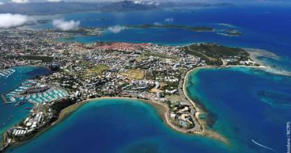 An aerial shot of New Caledonia's capital, Noumea.