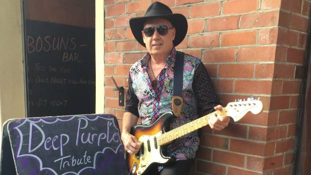 Howick blues-rocker Tony Painting plays with his band on home turf in delivering their Deep Purple Project show at ...