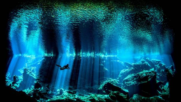 Nick Blake's award-winning image was taken in a freshwater sinkhole in Mexico, known as Chac Mool Cenote.