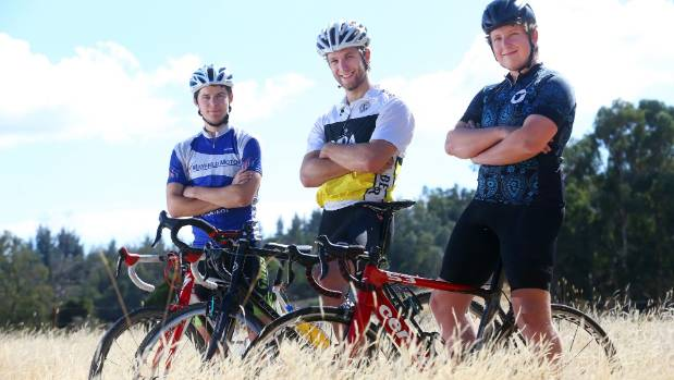 Marlborough cyclists battle mother nature for Kaikoura earthquake fund