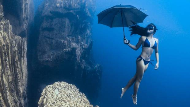 """The idea for this photo came from the need to show people that freediving is not only about going down and up on a line ..."