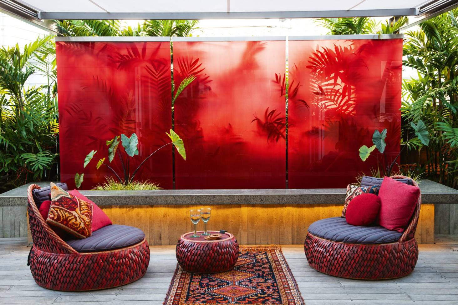 My favourite space dramatic red outdoor room