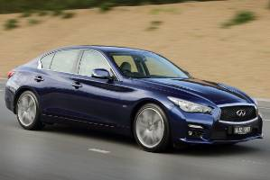 Infiniti Q50 is available with conventional powertrain or as a hybrid.
