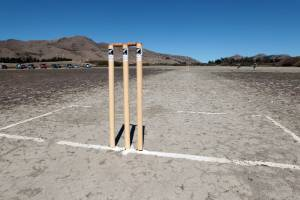 A rural cricket game has been rescheduled from a dried out lake bed to a bull paddock.