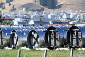 Tanks on the ground at the Pernod Ricard tank farm, south of Blenheim.