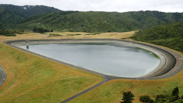 One of the two Macaskill Lakes used to store back-up water for the region.