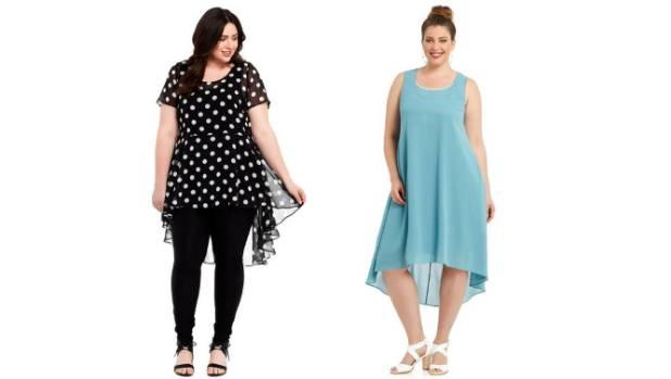 Some of the plus-size designs available at Farmers.
