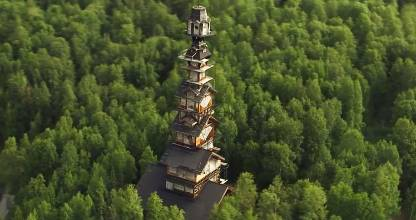 Visible for miles around, Goose Creek Tower has become a tourist attraction. The base is a typical small log cabin, with ...