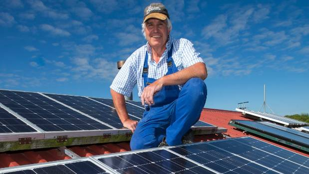 Norbert Reiser built his own alternative solar energy system and installed it to power his house.
