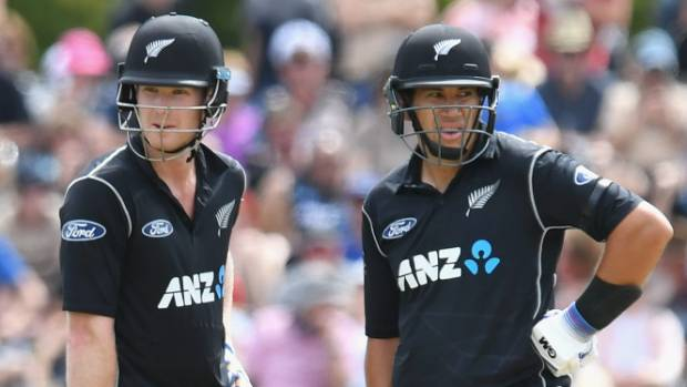 James Neesham left and Ross Taylor added an unbeaten 123 for the fifth wicket against South Africa on Wednesday