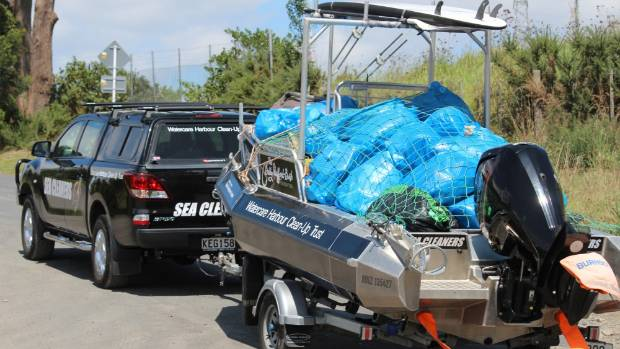 The Sea Cleaners Trust are pulling out 18 cubic meters of rubbish a day out of our waterways.