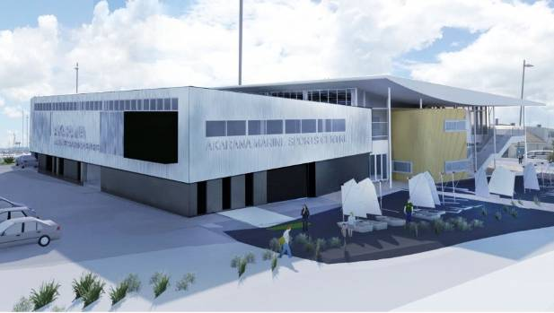 The final design for the Hyundai Marine Sports Centre, to be built at The Landing in Auckland's Okahu Bay.