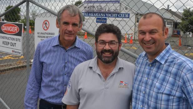 Akarana Marine Sports Charitable Trust chairman Mark Taylor, general manager Andrew Brookland and trustee Matt Woodley ...