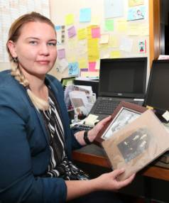 Invercargill City Libraries and Archives archivist Rebecca Smith shows some photos and letters from Southland soldiers ...