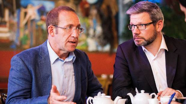 Labour leader Andrew Little and immigration spokesman Iain Lees-Galloway plan to cut immigration by up to 30,000 if in ...