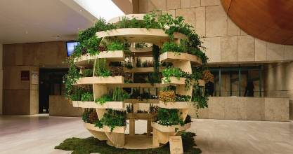 The new Ikea Growroom is a spherical vertical garden designed to maximise space and light for ideal growing conditions.