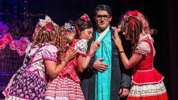 Jonathan Abernethy, who plays the wandering minstrel romantic lead named Nanki-Poo in The Mikado, is a bit of a ...