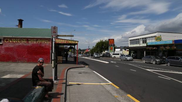 The main street in Kamo, Whangarei.