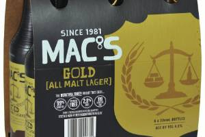 You'll be able to find carbohydrate and calorie content on beer labels.